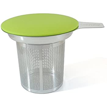 Best Loose Leaf Tea Infuser Herbal Tea Steeper - Brewer and Strainer, Steeps Single Cup of Extra Fine Tea - Dishwasher Safe Silicone Top and Stainless Steel Tea Tumbler Basket and Infuser