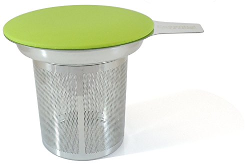 Best Tea Infuser (Best Loose Leaf Tea Infuser & Herbal Tea Steeper - Brews, Strains & Steeps Single Cup of Extra Fine Tea - Dishwasher Safe Silicone Top and Stainless Steel Tea Tumbler Basket & Infuser)