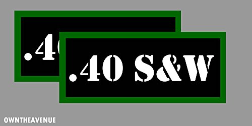 ".40 S&W Ammo Can Labels for Ammunition Case 3.5"" x 1.50"" stickers decals(2PACK)"