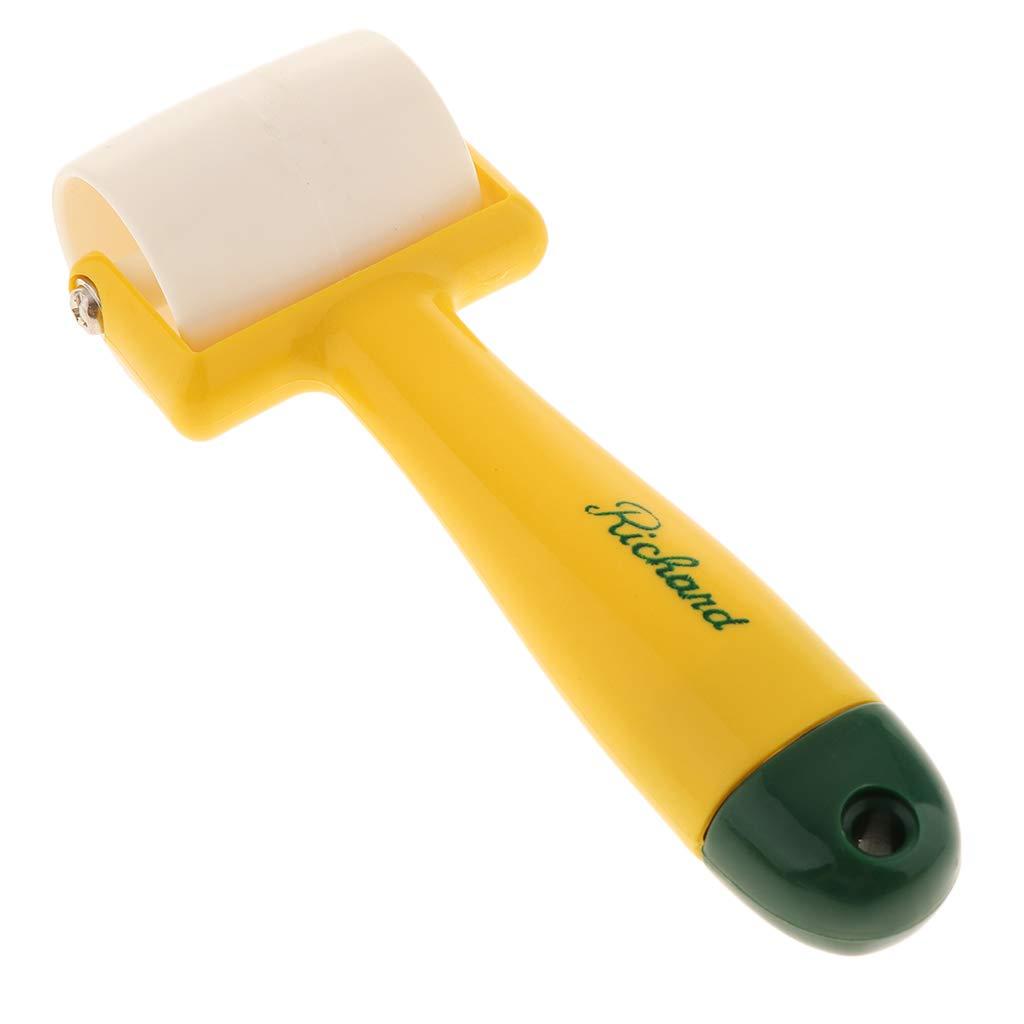 B Blesiya 2pcs Plastic Handle Smooth Surface Wallpaper Edge Seam Roller DIY Hand Pressure Rollers