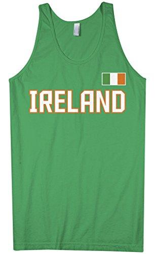 Threadrock Men's Ireland National Pride Tank Top M Kelly Green (Ireland Tank Top)