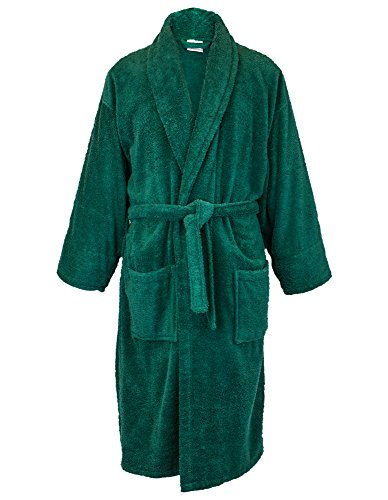 BC BARE COTTON Men Terry Shawl Robe, X-Large, (Green Mens Robe)