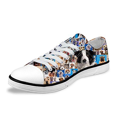 Border Collie Scarpe Sportive Sneakers In Tela Da Donna Casual 35
