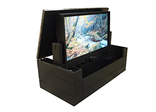 American TV Lift Cabinet - Handcrafted Low Profile Granite Top Flip Up TV Cabinet (75
