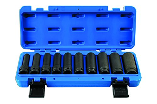 Laser - 7041 Deep Impact Socket Set 10pack qty 1/2