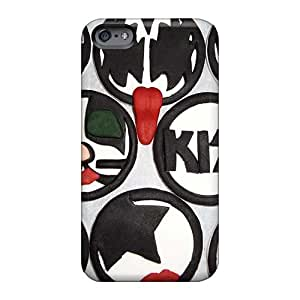 ElenaHarper Apple Iphone 6 Shock Absorption Hard Cell-phone Cases Allow Personal Design Colorful Kiss Band Pattern [ZDD943ttaG]