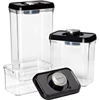 CONAIR CFS-TC-S6BS / 6PC SET BLACK/STAINLESS STEEL FRESH EDGE FOOD STORAGE