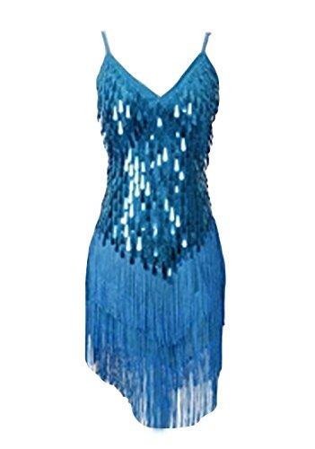 Azul Vestidos baile Lake Baile de Tango Latino Flamenco Mujer Salsa Elegante OzUxaqYqvw