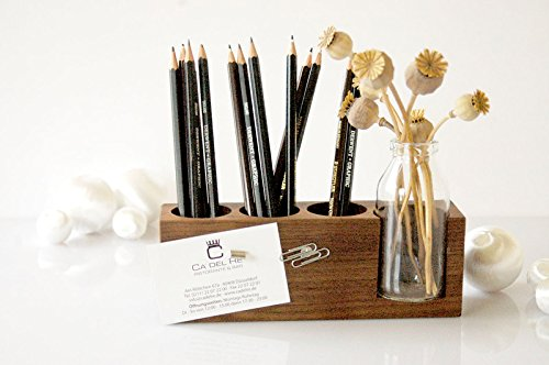 Stifthalter mit Vase und Magneten, Aufbewahrung Stifte, Schreibtisch, Organisation Stifte