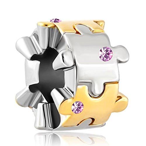 Charms Autism Awareness Puzzle Piece Jigsaw Charm for Bracelets ()