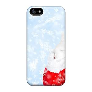 Hot Tpye New Year Santa With Tree Cases Covers For Iphone 5/5s