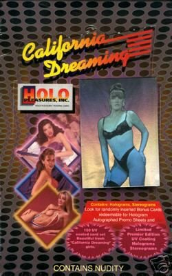 (Full Box California Dreaming Vintage Adult Trading Cards)