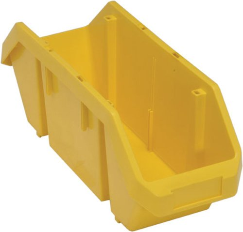 Quantum Storage Systems QP1867YL Quick Pick Bins 18-1/2-Inch by 8-3/8-Inch by 7-Inch, Yellow, 10-Pack (Quick Pick Double Hopper Bin)