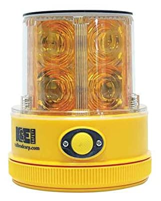 Rechargeable SafetyLight, Amber, LED, Solar