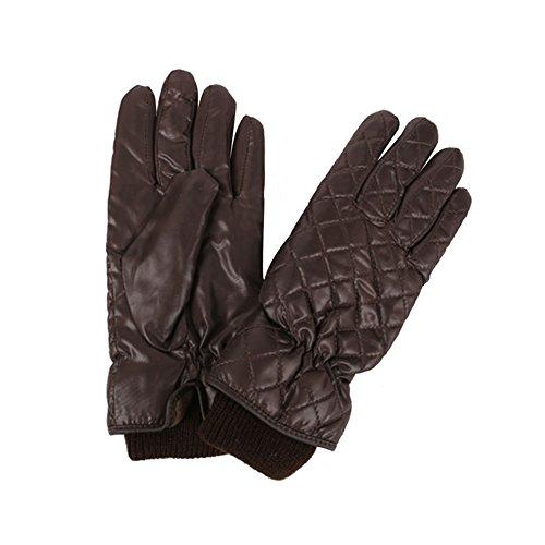 XIKA レディース防寒グローブ スキー 運転 保温 ダイヤ柄 裏起毛グローブ あったかい手袋 3色 A6003