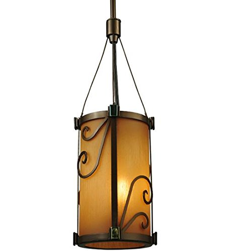Meyda Tiffany 125507 Cilindro Sorbonn Mini Pendant Light Fixture, 5.25