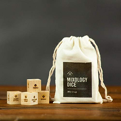 Mixology Dice (pouch) // Cocktail inspiration, gift for men, bartender, birthday or hostess
