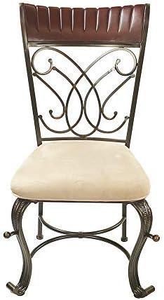 ACME Dining Chair Cream Mfb, Cherry Bronze