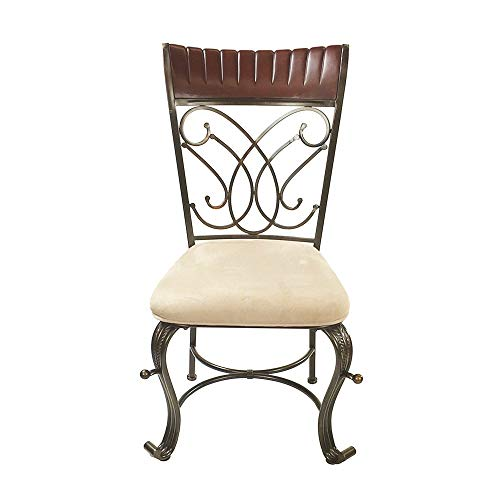 ACME Dining Chair Cream Mfb, Cherry Bronze