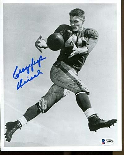 Elroy Crazylegs Hirsch Signed Photo 8x10 Autographed Rams Beckett BAS ()