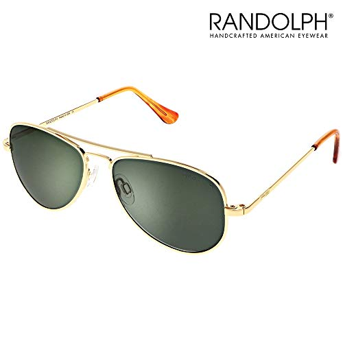 Concorde Aviator Sunglasses for Men or Women - Randolph Engineering Sunglasses, Guaranteed for Life, Built to Military Specifications, Authentic Pilot Aviators. Made in USA. 23k Gold, AGX P, 57mm (Beste Aviator Sonnenbrille Für Männer)