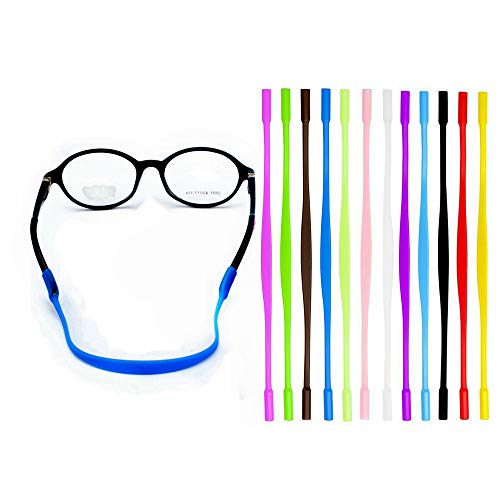 YALEX 12 Colors Anti-slip Glasses Strap Sports Glasses Strap Holder for Kids ,Glasses chain 12 ()