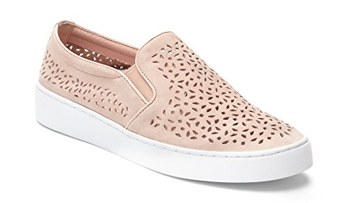 Vionic Women's Splendid Midi Perf Slip-on - Ladies Sneakers with Concealed Orthotic Arch Support Dusty Pink 8 M US