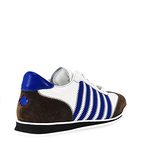 Dsquared2 Men Shoes Sneaker Nieuwe Runner Wit Blauw Voorjaar / Zomer 2018