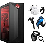 HP OMEN VR Ready High Performance Desktop | Intel 6-Core i7-8700 | GeForce GTX 1060 3MB | Included Mouse & Keyboard | Windows 10 | Choose RAM, Storage, Windows Mixed Reality Headset with Controllers