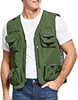 BALEAF Lightweight Water Repellent Fly Fishing Vest with Multi-Pockets Safari Hunting Waistcoat for Men Women