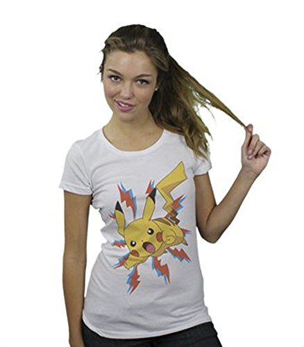 Pokemon Pikachu Bolt Burst Juniors White T-shirt Tee - Pokemon Burst