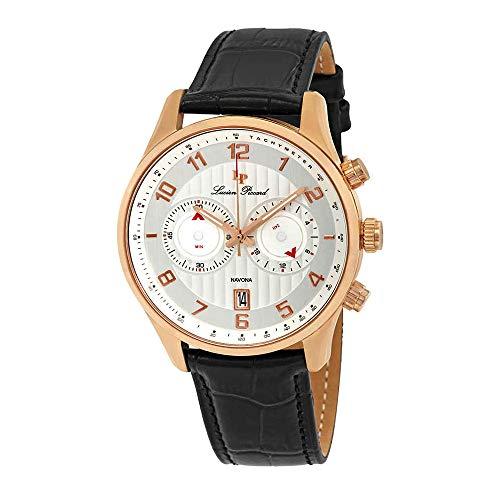 Lucien Piccard Men's LP-11187-RG-02S Navona Analog Display Quartz Black Watch (Lucien Piccard White Wrist Watch)