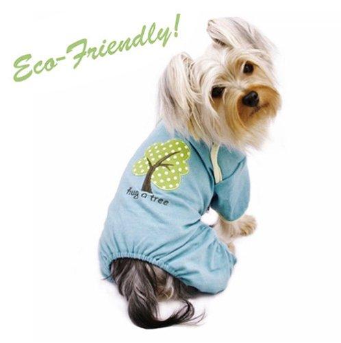 Soy Fiber and Cotton Hug A Tree Dog Pajamas Color: Ocean Blue, Size: Medium, My Pet Supplies
