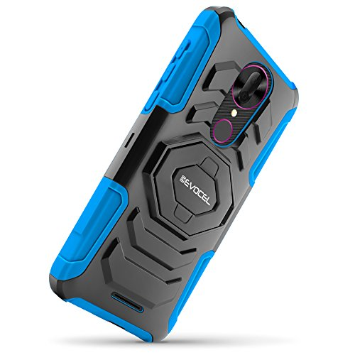 T-Mobile REVVL Plus Case, Evocel [New Generation Series] Belt Clip Holster,  Kickstand, Dual Layer for T-Mobile REVVL Plus C3701A, Blue (Does NOT fit