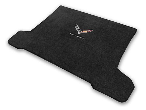 2014-2018 Corvette C7 Coupe Jet Black Trunk Mat - Crossed Flags & Stingray Logos