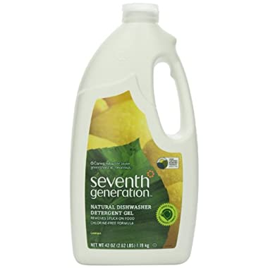 Seventh Generation Automatic Dishwasher Gel, Lemon Scent, 42-Ounce Bottles, Pack of 6