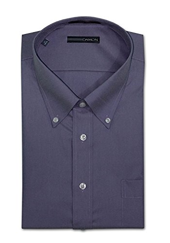 Damon Long Sleeve Easy Care Ultra Pinpoint Dress Shirt (36-37 18.5