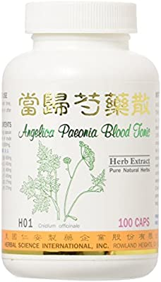 Angelica Peony Blood Tonic Dietary Supplement 500mg 100 capsules (Dang Gui  Shao Yao San) H01 100% Natural Herbs