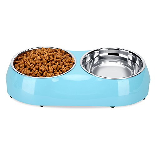 Dog Food Water Plastic Bowls
