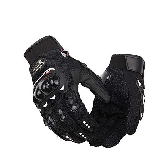 Autokraftz Black Probiker Full Racing, Riding, Motorcycle Driving Gloves (Medium, 1 Pair)