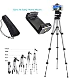 Alovexiong 110cm General Portable Camera Tripod Stand Adjustable Rotatable Retractable Tripods + Smartphone Clip Holder Mount (Fit Every Phone Mount) for iPhone 5 6S 7 8 9 Plus X Phone LG Video