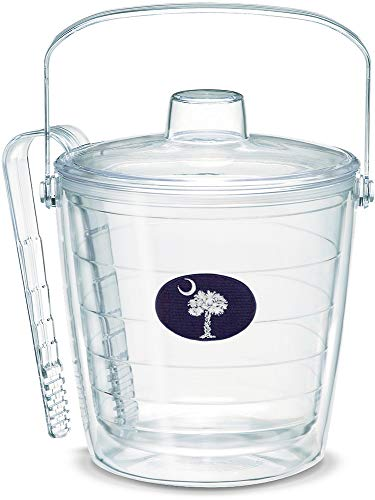 Tervis 1019065 South Carolina Flag Insulated Tongs with Emblem and Lid-Boxed, 87Oz Ice Bucket, Clear
