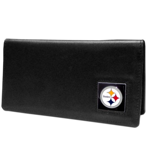 (NFL Pittsburgh Steelers Leather Checkbook Cover)