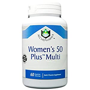 AlchePharma Women's 50 Plus Multi, Veg Tabs.