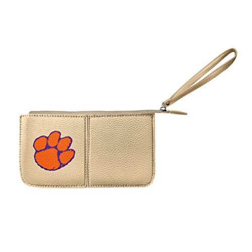 NCAA Clemson Tigers Pebble Wristlet