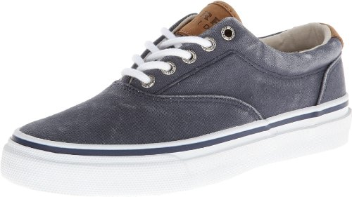 Sperry Men's Salt Washed Striper LL CVO Boat Shoe,Blue,10.5 M US