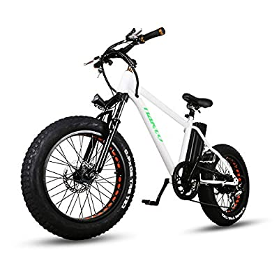 """NAKTO Fat Tire Electric Bike Beach Snow Bicycle 20"""" 4.0 inch Fat Tire ebike 300W/350W 36V/48V/10AH/12AH Electric Mountain Bicycle with Shimano 6 Speeds Lithium Battery-2019NEW"""