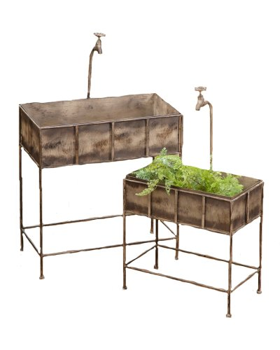 Your Heart's Delight 24-1/2 by 39 by 13-Inch Rectangle Faucet Style Plant Stand, Large, Set of 2 by Your Heart's Delight