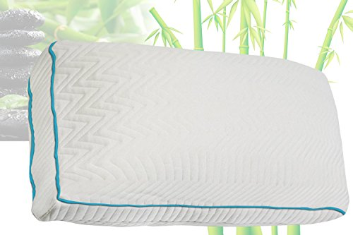 Buy Discount Home Comfort Premium Bamboo Pillow With Shredded Memory Foam and Cool Removable Cover, ...