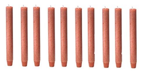 Biedermann & Sons Footed Vegetable Wax Carriage Taper Candles, Orange, 10-Count